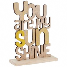 Transomnia - You are my sunshine Wooden words